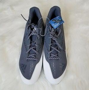 Adidas Baseball Cleats Grey Size 17 Large Athletic